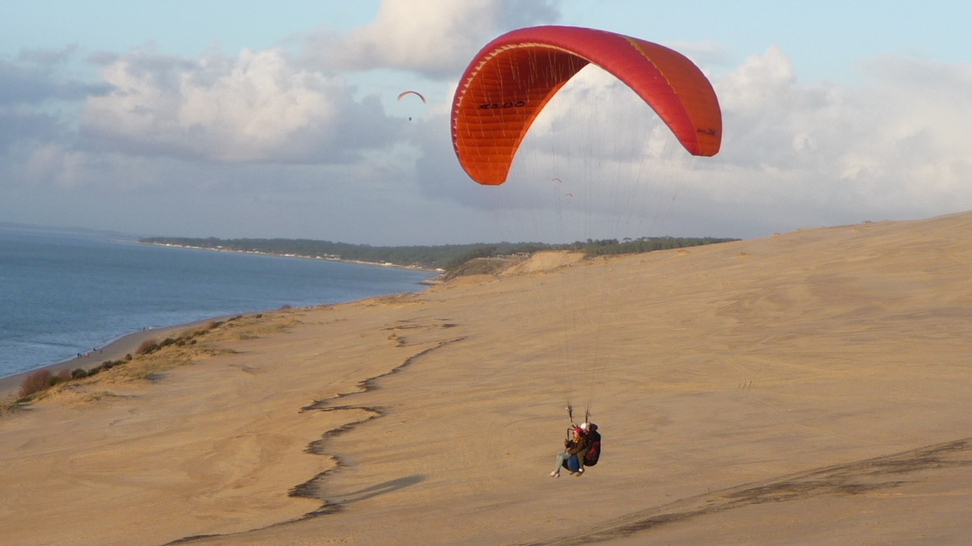 bapt me de l 39 air parapente 4 formule pyla sur la dune de pilat l 39 entr e du bassin d 39 arcachon. Black Bedroom Furniture Sets. Home Design Ideas